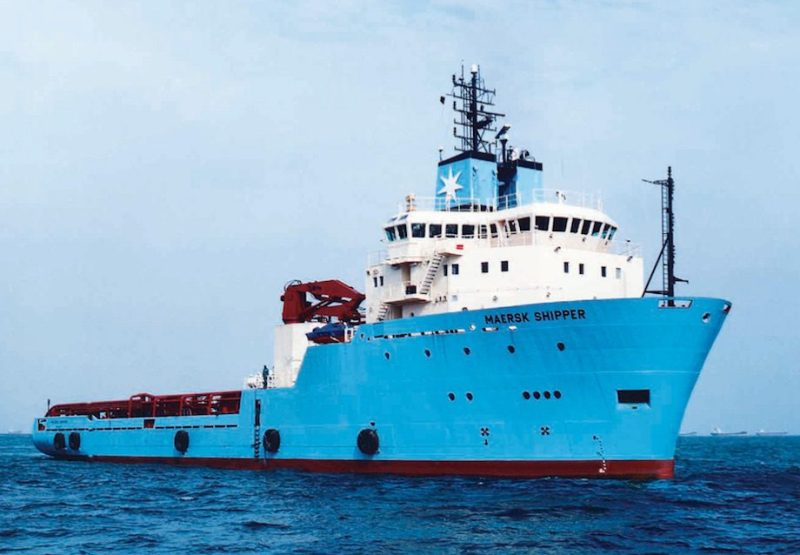 The Maersk Supply vessel Maersk Shipper. File photo: Maersk Supply Service