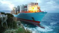 Maersk Containership Grounds in Southern Italy
