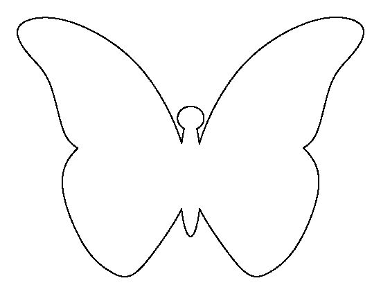 Butterfly outline printable free coloring pages on masivy world 4 - butterfly template