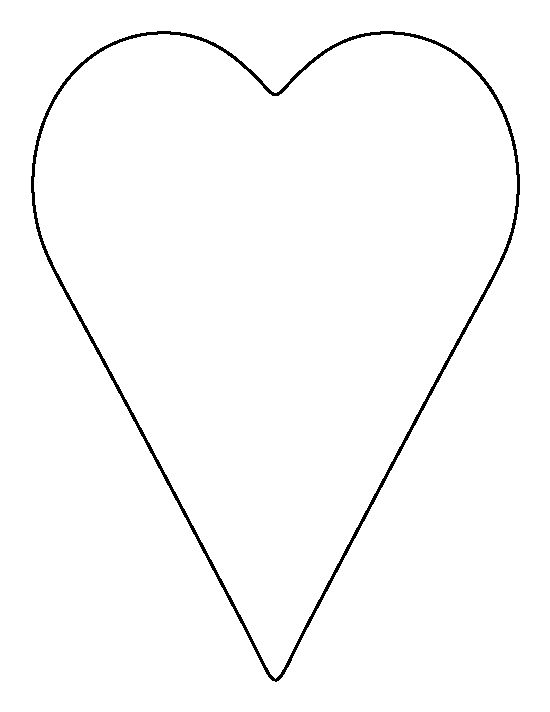 Heart outline 0 ideas about heart template on surprise \u2013 Gclipart
