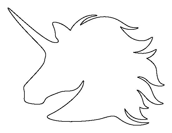 Unicorn outline unicorn head pattern use the printable outline for