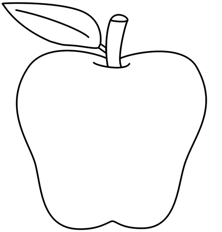 Apple black and white ideas about apple template on preschool clip