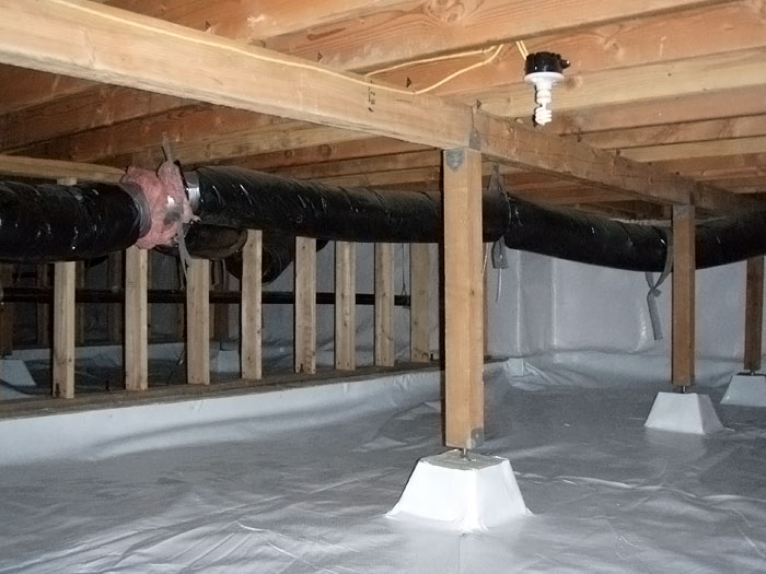 Crawl space moisture barrier for san diego structures for Crawl space house plans