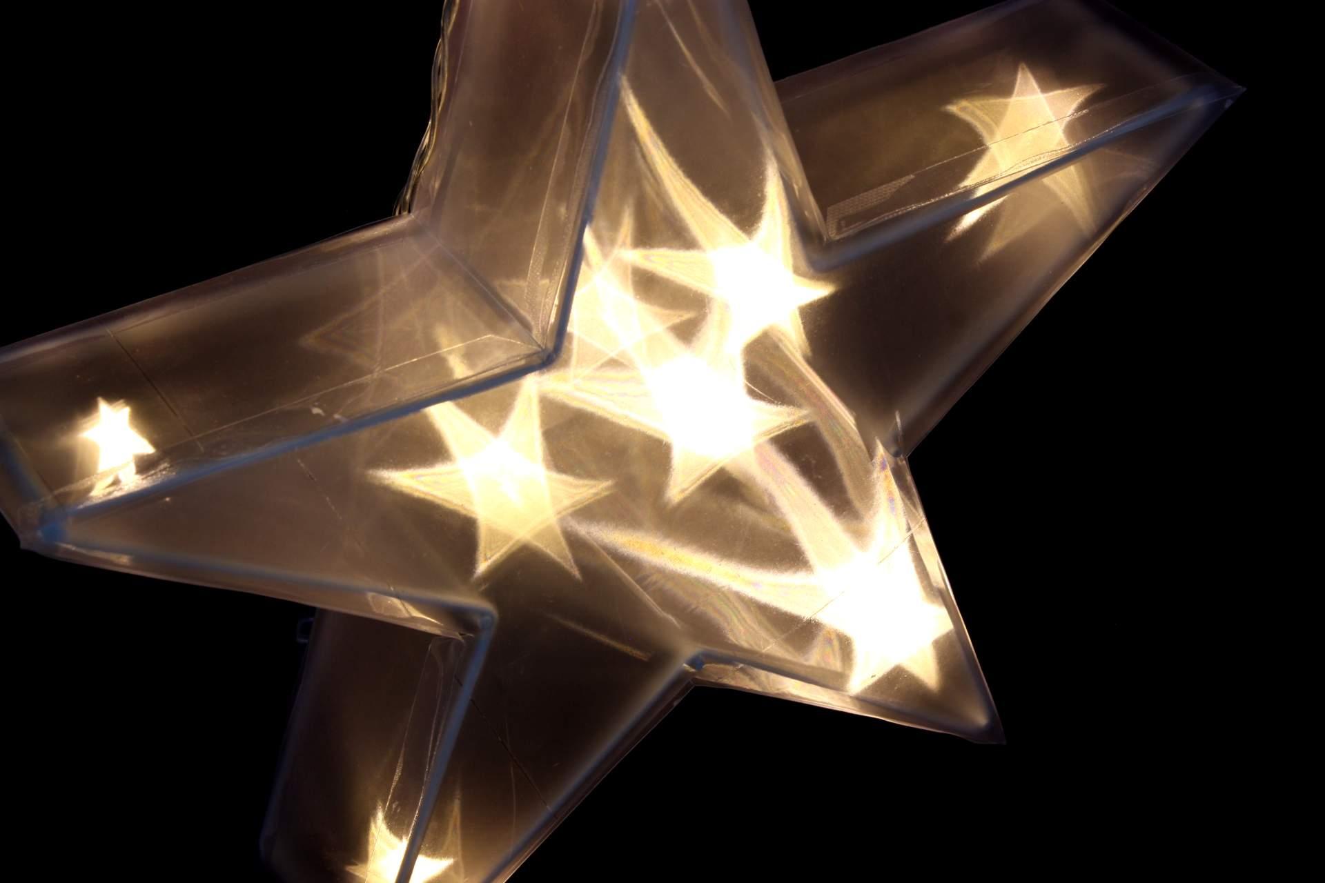 3d Stern Mit 10 Led 30 Cm Beleuchtung Acryl Leuchtstern