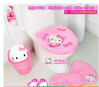 Qoo10 - hello kitty thick mat toilet seat part cartoon winter sets - hello kitty potty