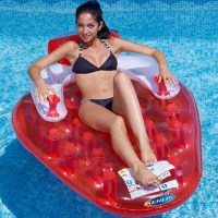 Qoo10 - JILONG inflatable drift bed strawberry inflation ...