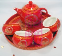 Qoo10 - Wedding Teapot Set Chinese Tea Set Double ...