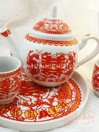Qoo10 - Wedding Teapot Set Dragon Phoenix Chinese Wedding ...