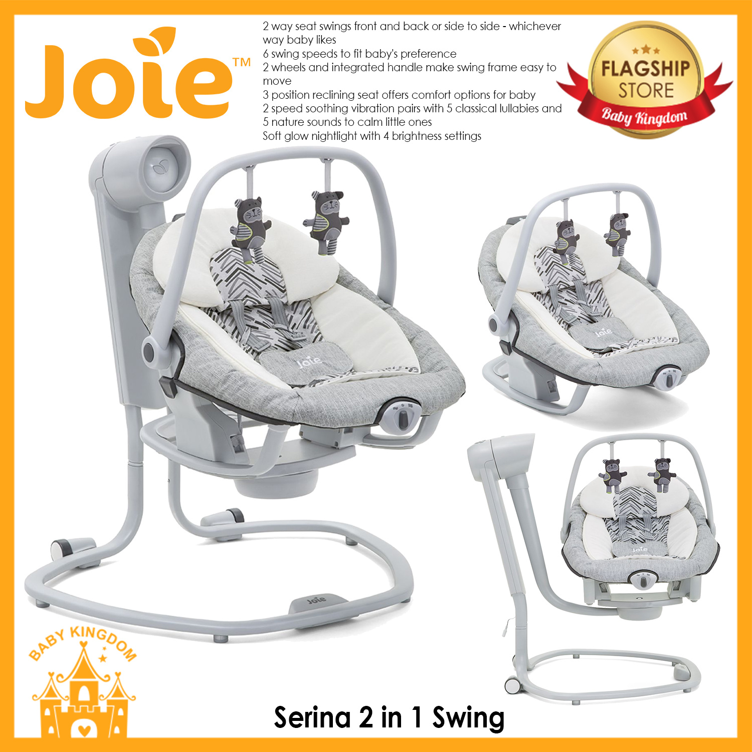 Joie Baby Swing Rocker Joiejoie Serina 2 In 1 Swing Abstract Arrows