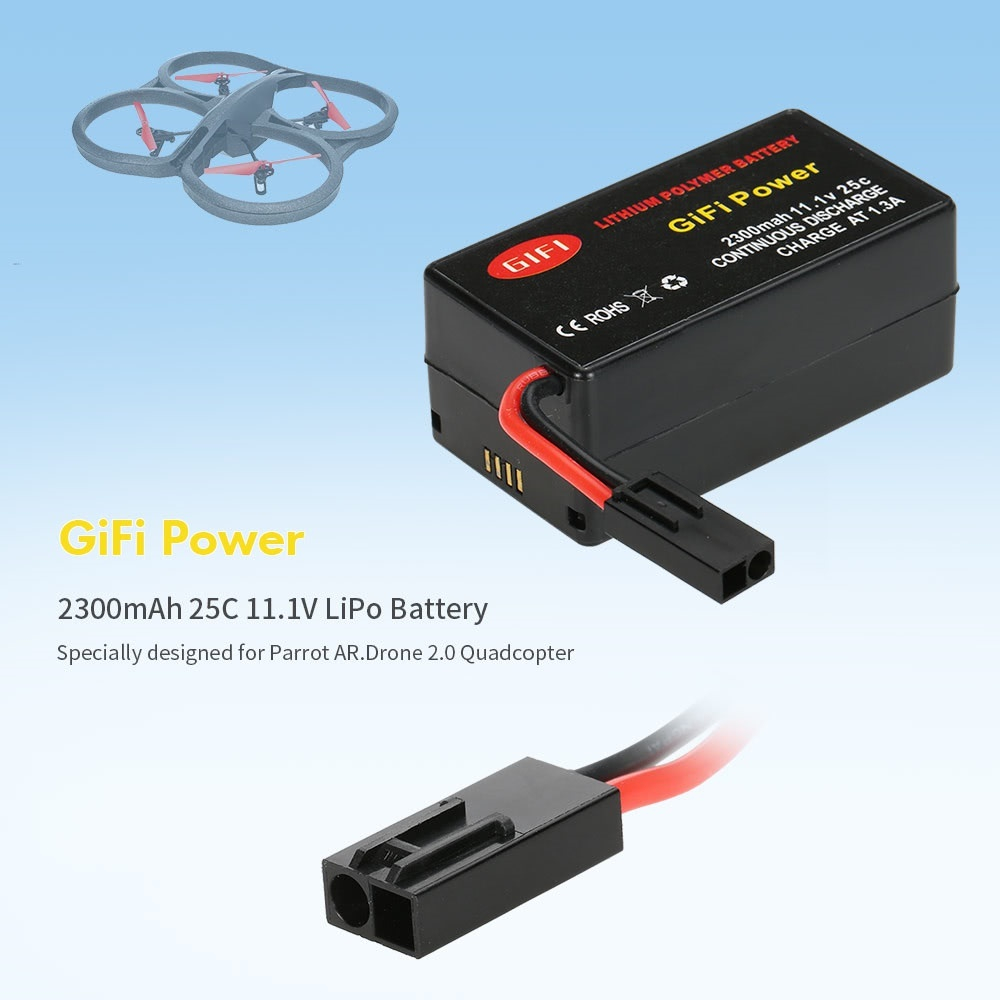 Olaf Gifi Gifi Power 2300mah 25c 11 1v Lipo Battery For Parrot Ar Drone 2 Quadcopter