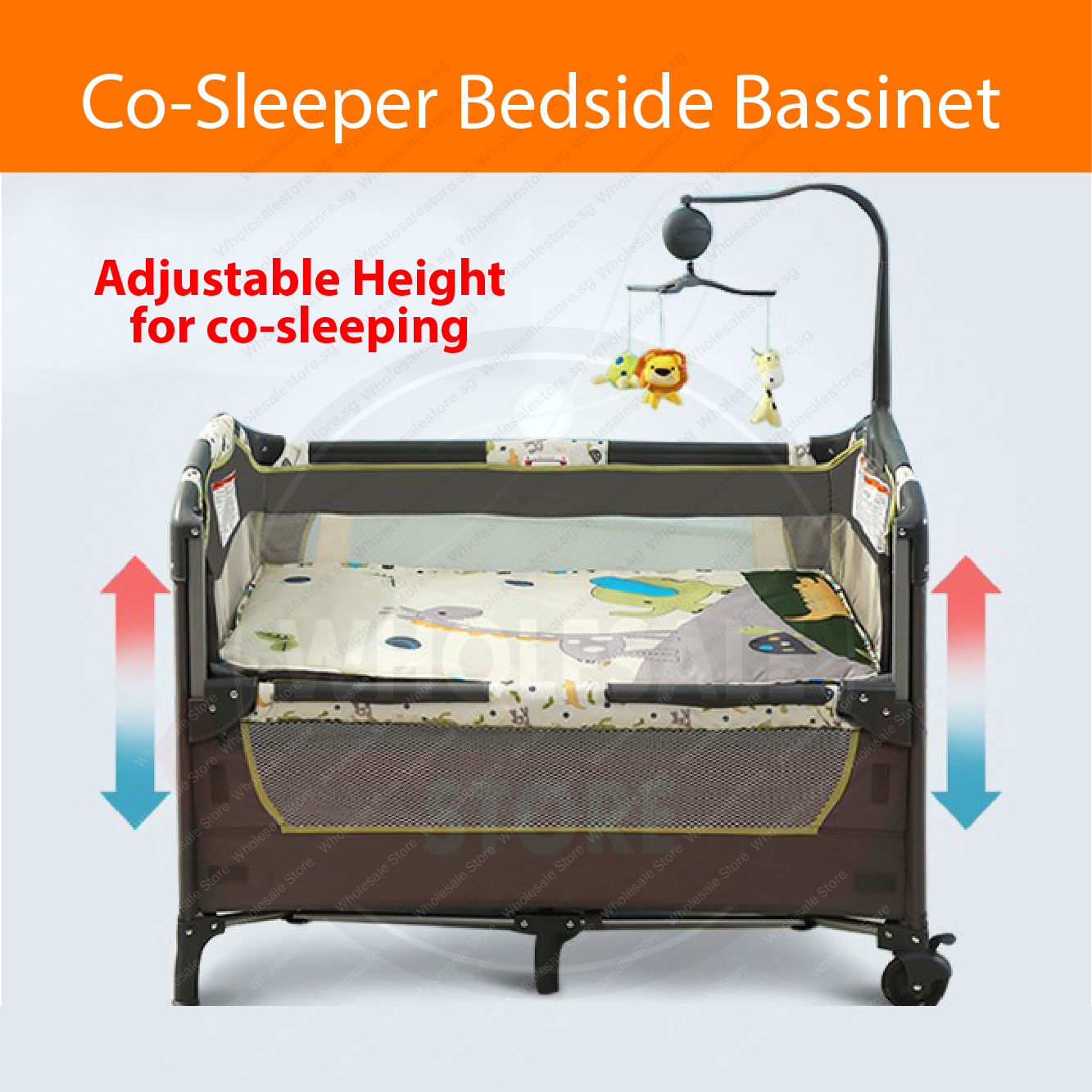 Baby Playpen Height 3 In 1 Co Sleeper Bedside Bassinet Baby Cot Babycot Baby Crib Playpen Baby Bassinet