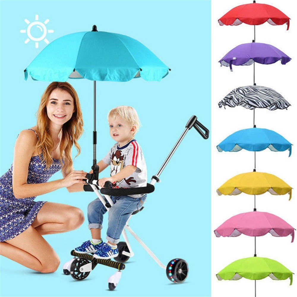 Baby Pram Umbrella Foldable Pram Umbrella Stroller Shade Canopy Covers Baby Sun Umbrella Adjustable Direction Pram Acce
