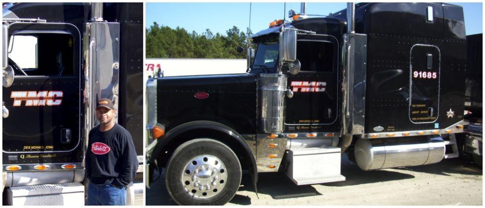 GDA graduate driving personalized TMC truck! - tmc trucking pay