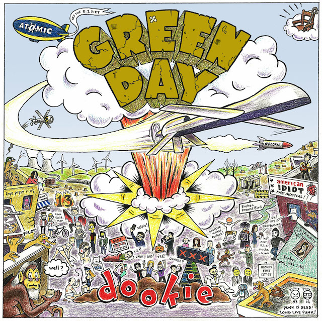 Airplane Wallpaper Iphone X Artist Modernizes Dookie Artwork With Historical Green Day
