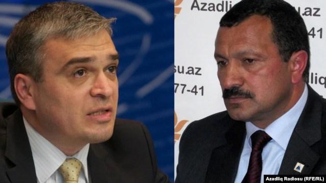"Azerbaijan - Chairman of ""REAL"" movement Ilgar Mammadov and Deputy chairman of Musavat Party Tofig Yagublu"