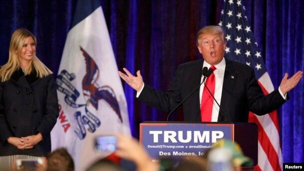 Donald Trump, 1 fevral 2016
