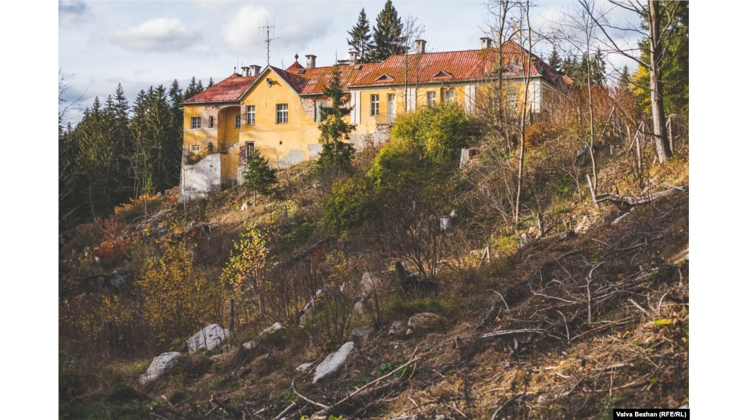 The Favorit Chateau, located near the village of Sindelova in the western Czech Republic. Karmal and his family often went to the chateau, now derelict, for meals.