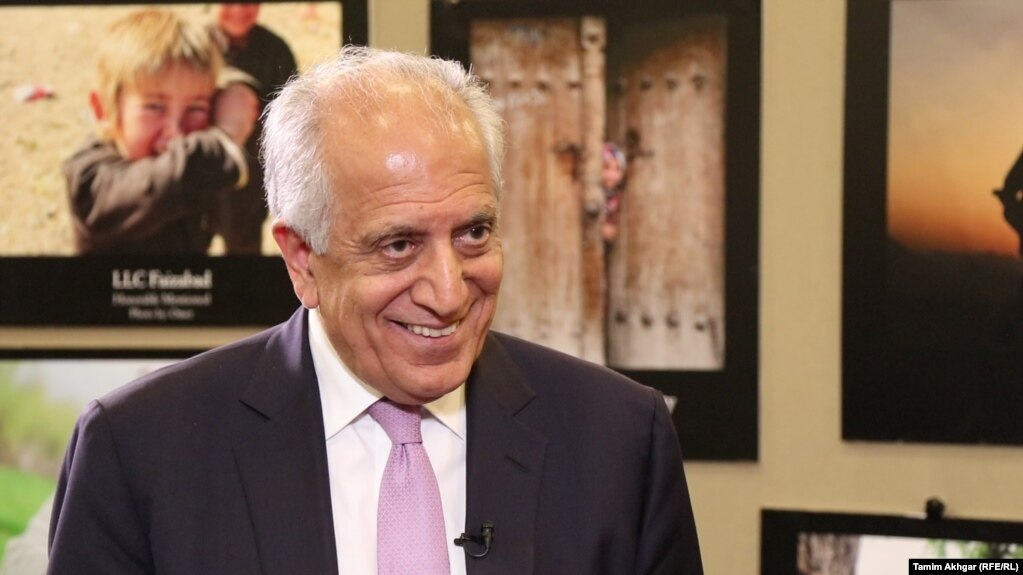 Zalmay Khalilzad, the U.S. special envoy for Afghanistan, smiles during his exclusive interview RFE/RL on July 31.