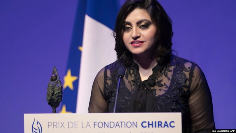 """""""I could face prison simply for speaking out about human rights,"""" says Gulalai Ismail."""