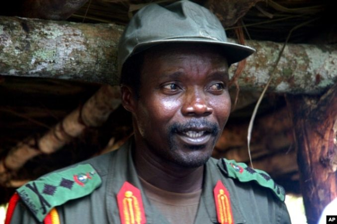 FILE - Joseph Kony, leader of the Lord's Resistance Army during a meeting with a delegation of 160 officials and lawmakers from northern Uganda and representatives of non-governmental organizations, July 31, 2006, Congo near the Sudan border.