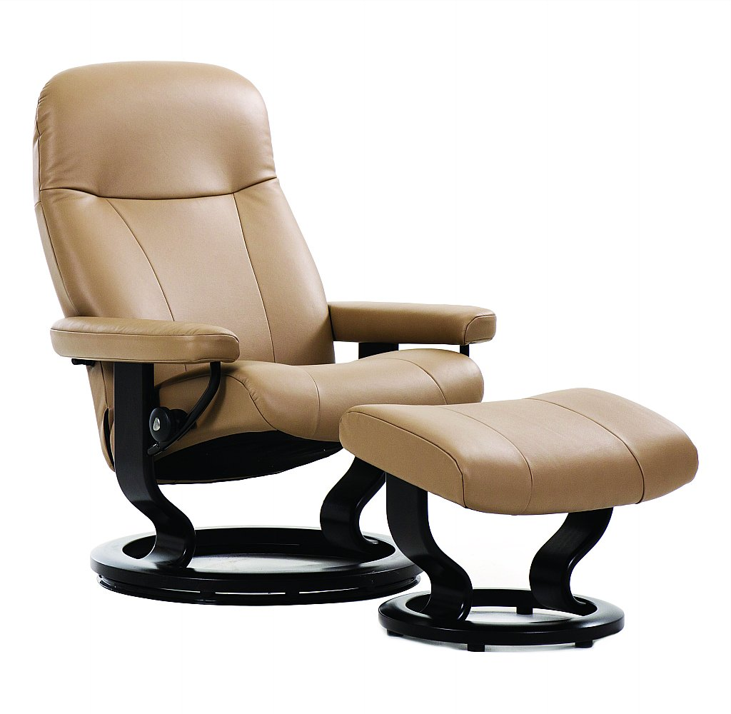 Fauteuil Stressless City High Back Ekornes Leather Recliner. Stressless Consul Recliner Chair