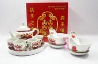 Buy Wedding Teapot Dining Set Oriental Cartoon Bowl Set ...