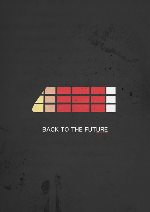 Back To The Future Iphone X Wallpaper 100 Minimal Poster Designs Design Graphic Design Junction