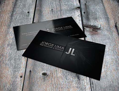 Black and White Business Cards Design (50 Inspiring Examples