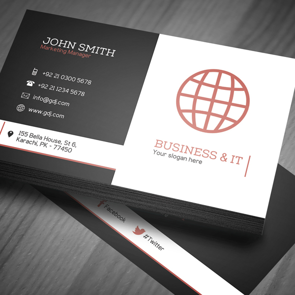 Free Corporate Business Card Template (PSD) Freebies Graphic - Buisness Card Template