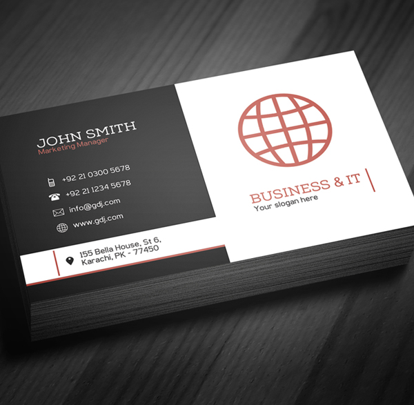 Free Corporate Business Card Template (PSD) Freebies Graphic