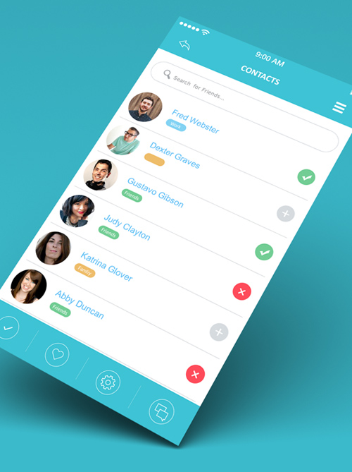 Modern Mobile App UI Designs with UUX Inspiration Graphic Design