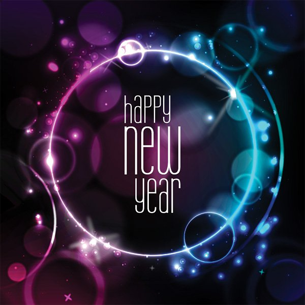 2015 New Year Vector Designs for Wallpapers Vector Graphics