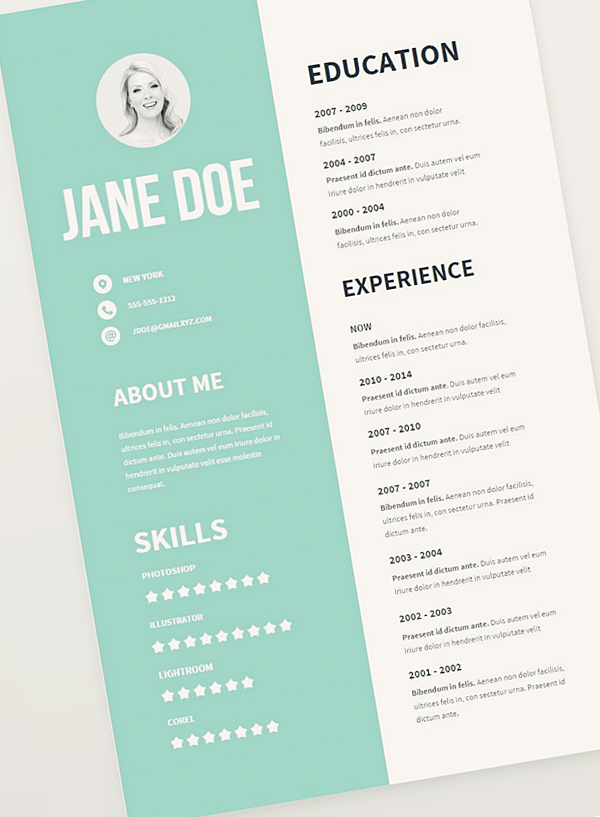 creative cv layout free