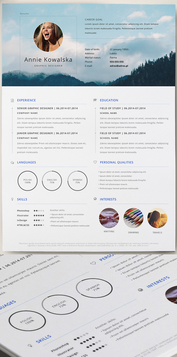 template cv photoshop download