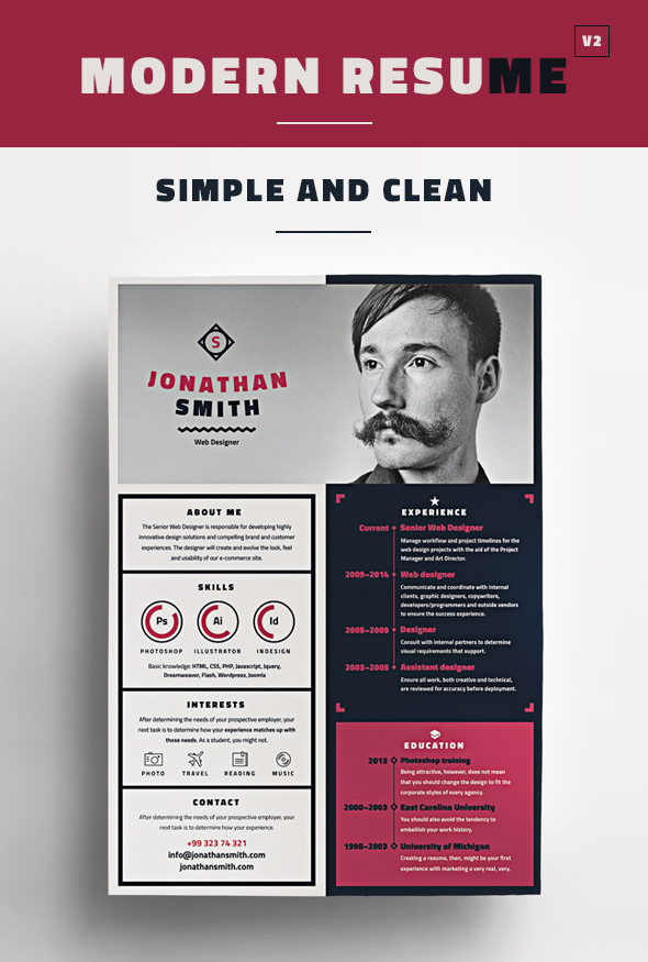 Modern CV / Resume Templates with Cover Letter Design Graphic - modern resume