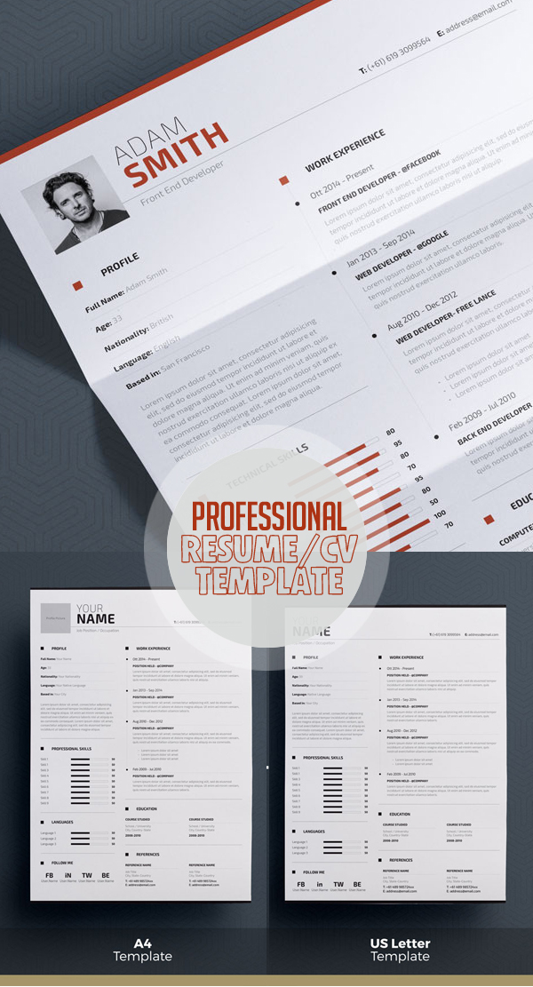 50 Best Resume Templates Design Graphic Design Junction - Resume In Word