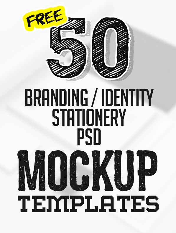 50+ Free Branding / Identity  Stationery PSD Mockups Freebies