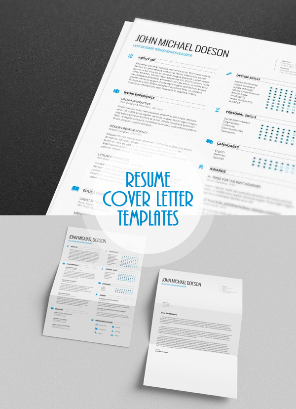 Free Minimalistic CV/Resume Templates with Cover Letter Template - free resume cover letter templates