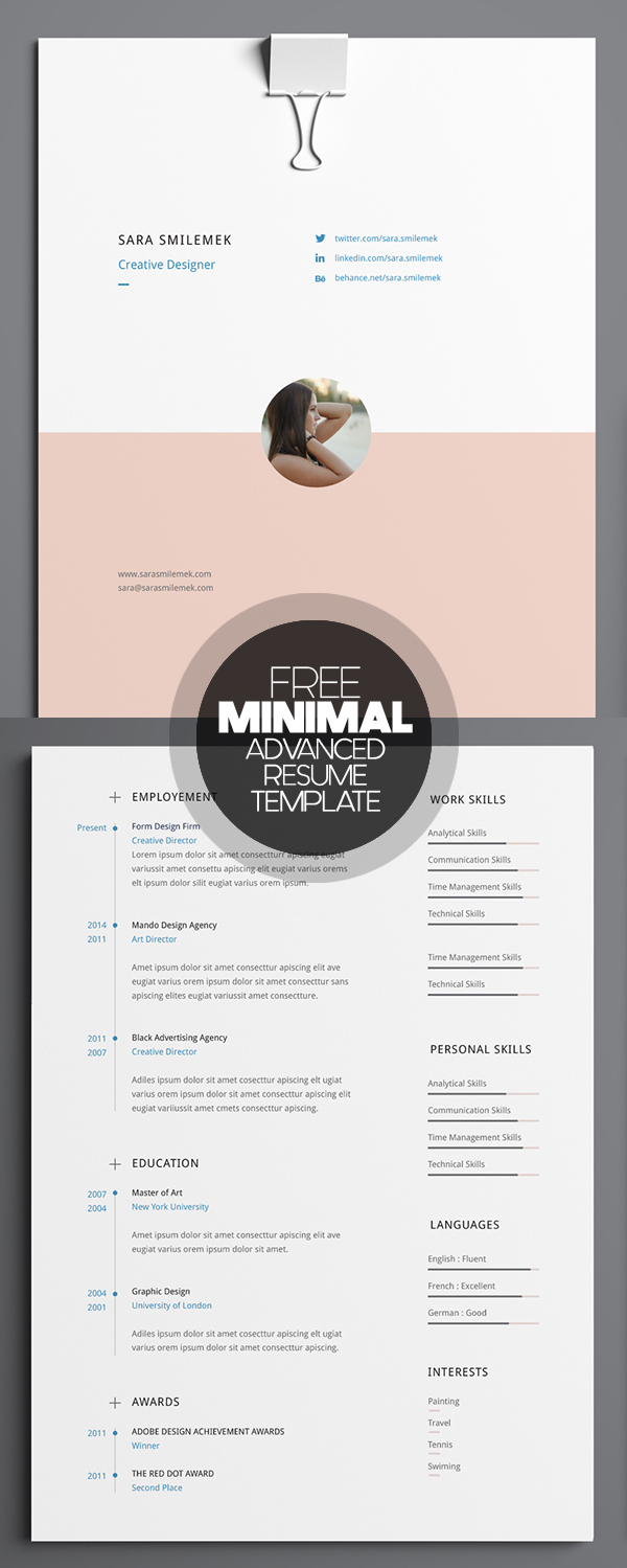 best resume design modern minimal