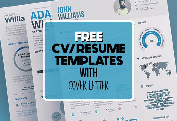 17 Free Clean Modern CV / Resume Templates (PSD) Freebies - Free Graphic Design Resume Templates