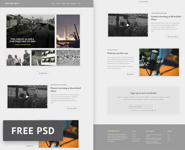 Web Templates \u2013 25 Professional Free PSD Templates Freebies - podcast website template