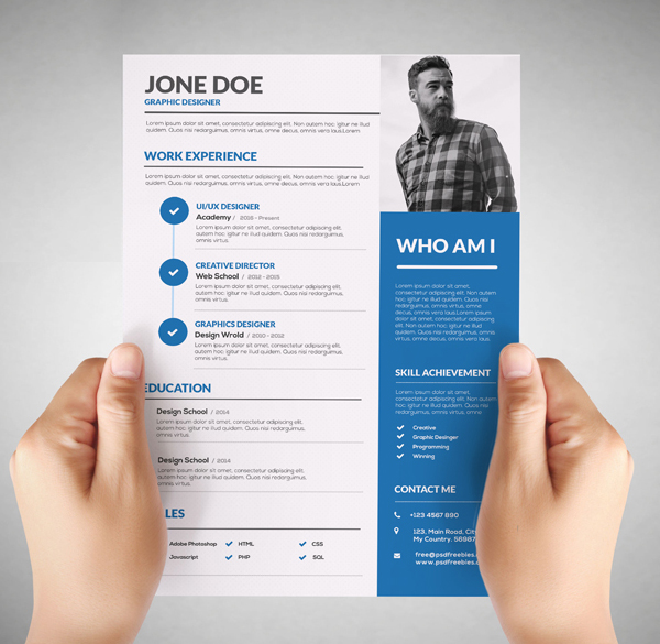 Free Resume Templates for 2017 Freebies Graphic Design Junction - creative resume template free