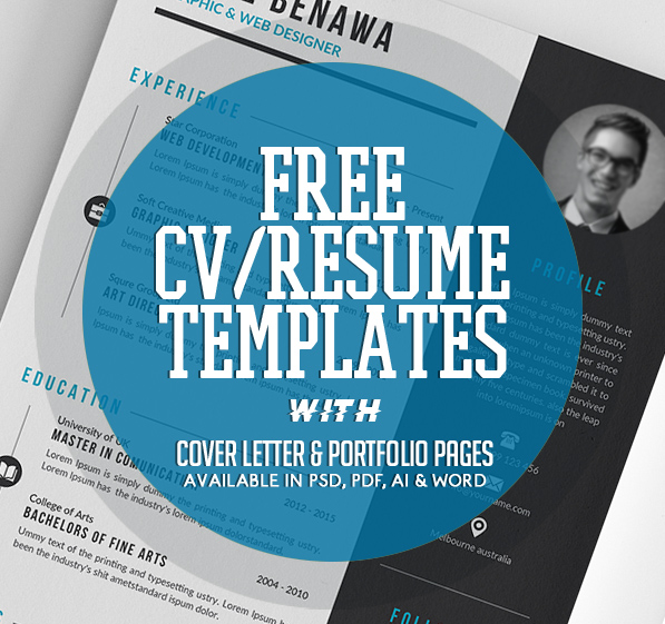 20 Free CV / Resume Templates 2017 Freebies Graphic Design Junction - resume template australia free