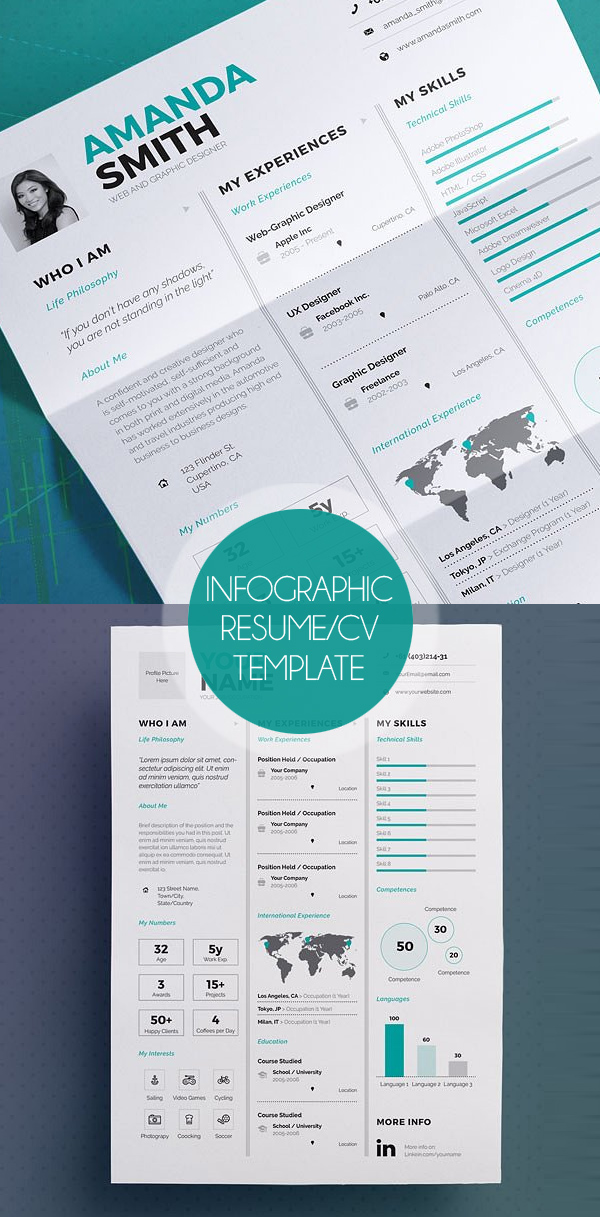 New Professional CV / Resume Templates with Cover Letter Design - resume and cv templates