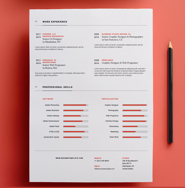 23 Free Creative Resume Templates with Cover Letter Freebies - cool resume templates free