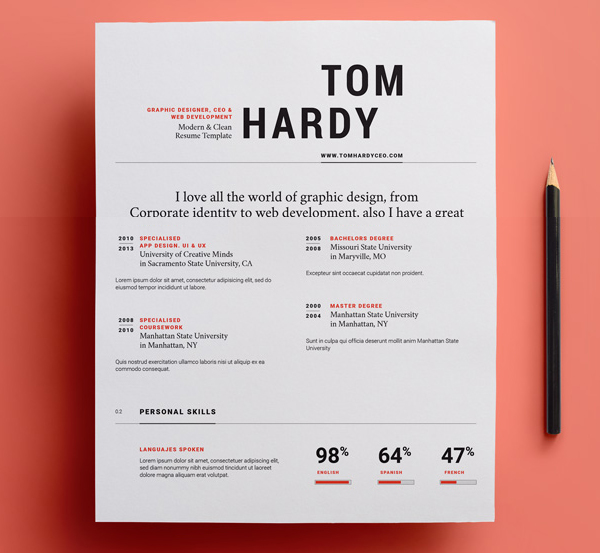 23 Free Creative Resume Templates with Cover Letter Freebies - Resume For Graphic Designer