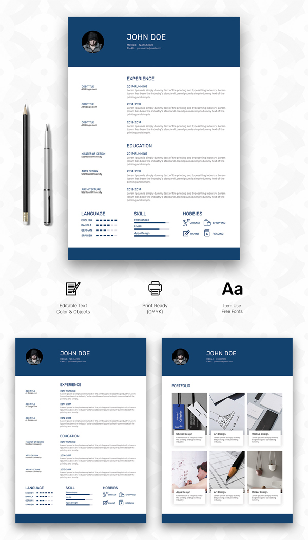 Fresh Free Professional CV \/ Resume Templates Freebies Graphic - personal resume template
