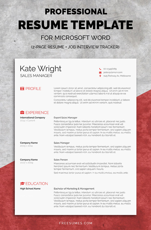 resume highlights template