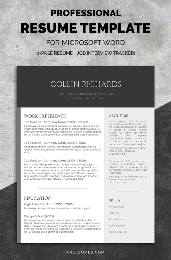 50 Best Resume Templates Design Graphic Design Junction - Best Resume Template