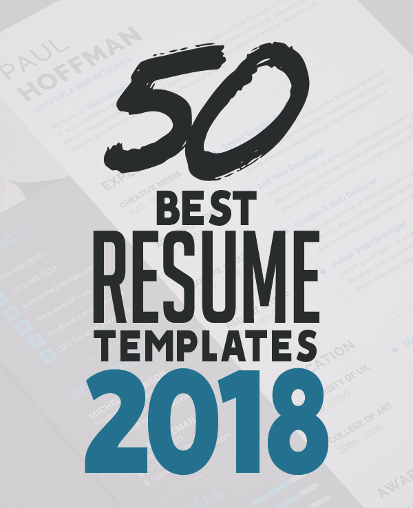 50 Best Resume Templates For 2018 Design Graphic Design Junction - Best Resume Template